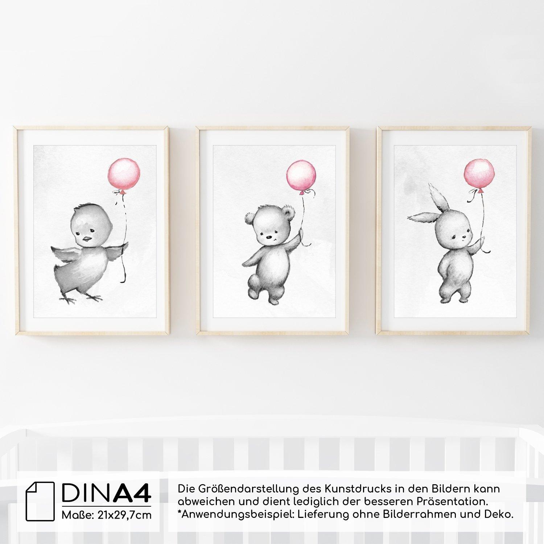 Frechdax® 3er-Set Kinderzimmer Babyzimmer Poster DIN A4 ohne ...