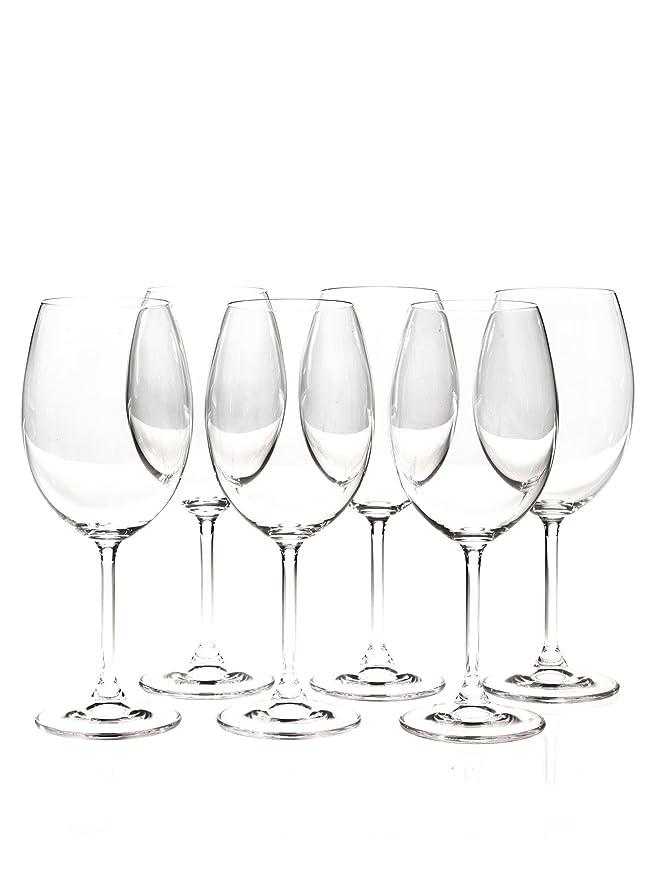Martin Berasategui Set De 6 Copas De Vino Cristal De Bohemia 580 Cl.: Amazon.es: Hogar