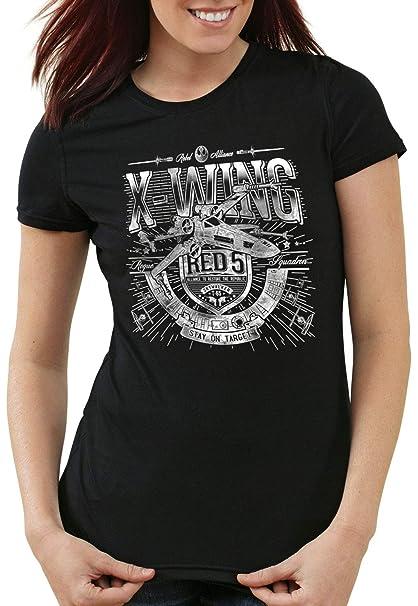 style3 X-Wing Camiseta para Mujer T-Shirt red5 Caza Estelar: Amazon.es: Ropa y accesorios