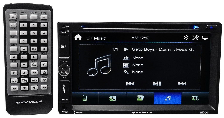 Rockville RDD7 7 Inches Car DVD/iPhone/Pandora/Spotify/Bluetooth/USB Player  Receiver