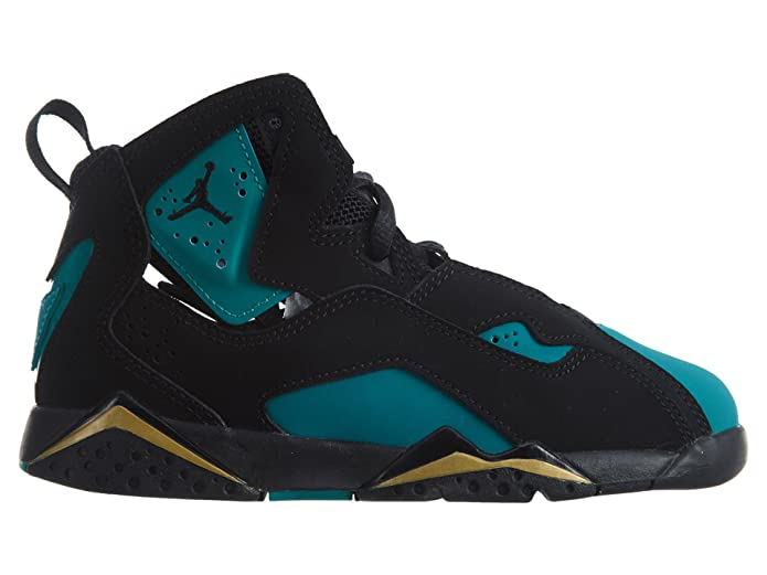 Amazon.com | JORDAN TRUE FLIGHT GP girls basketball-shoes 342775-014_3Y - BLACK/BLACK-RIO TEAL-METALLIC GOLD | Basketball