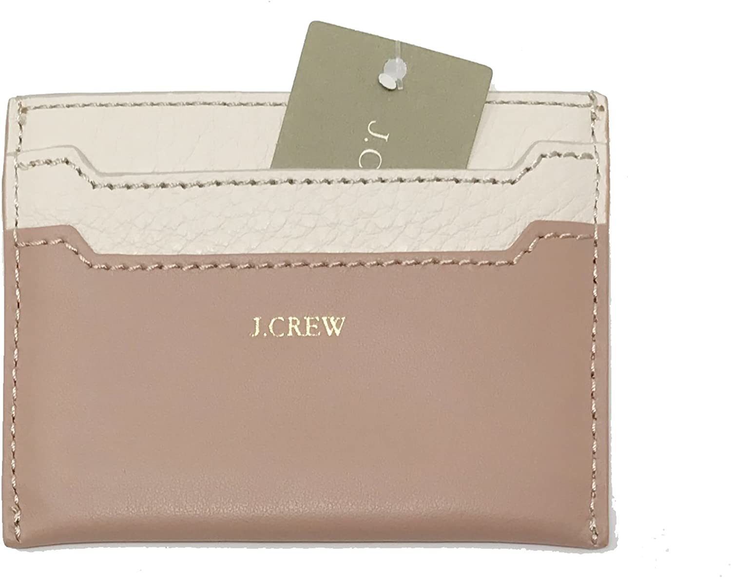 Womens Color Block Leather Card Case J Crew