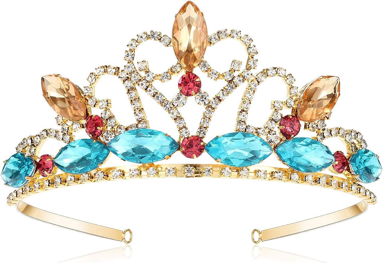 Jasmine Princess Costume Party Arabia Aladdin Headband Crown tiara Necklace set