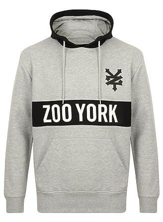 a basso prezzo 9c455 20b24 Zoo York Uomo Copricapo Cotone Felpa con cappuccio - Grigio ...
