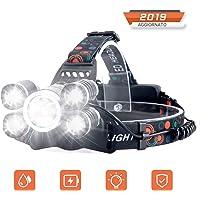 Linterna Frontal Recargable LED Alta Potencia 10000 Lúmenes