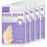 Hand Peel Mask, (5 Pack) Moisturizing Gloves,Moisturizing Natural Therapy Gloves,Exfoliating Hand Peeling Mask for Dry Hands, Repair Rough Skin for Men Women