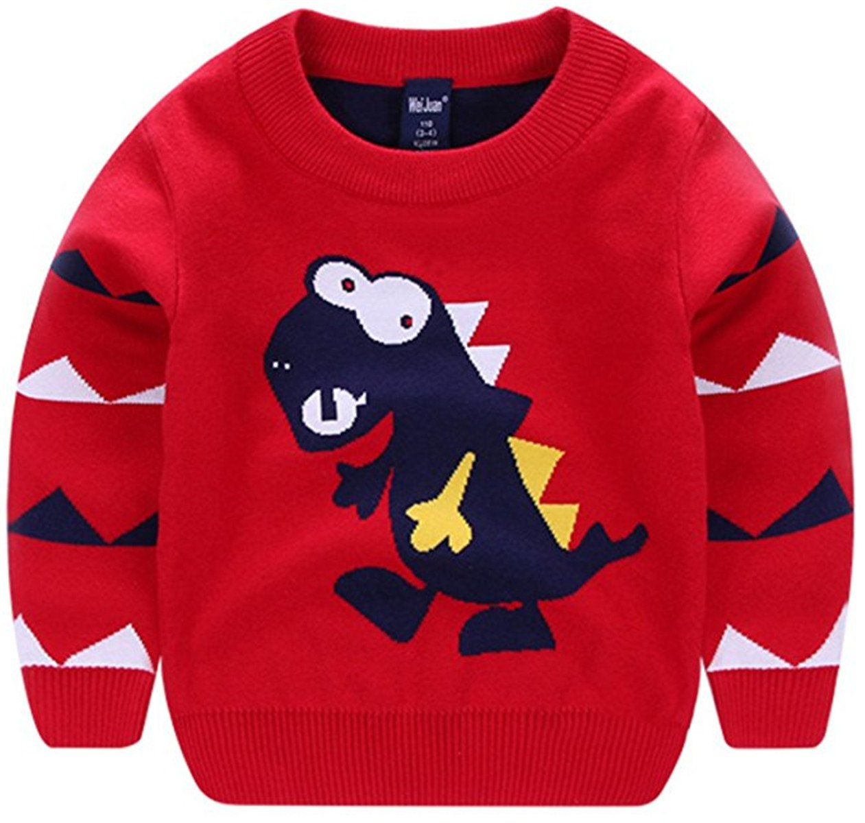 Kids Toddler Kids Little Girls Boys Dinosaurs Cartoon Pullover Sweaters Sweatershirt