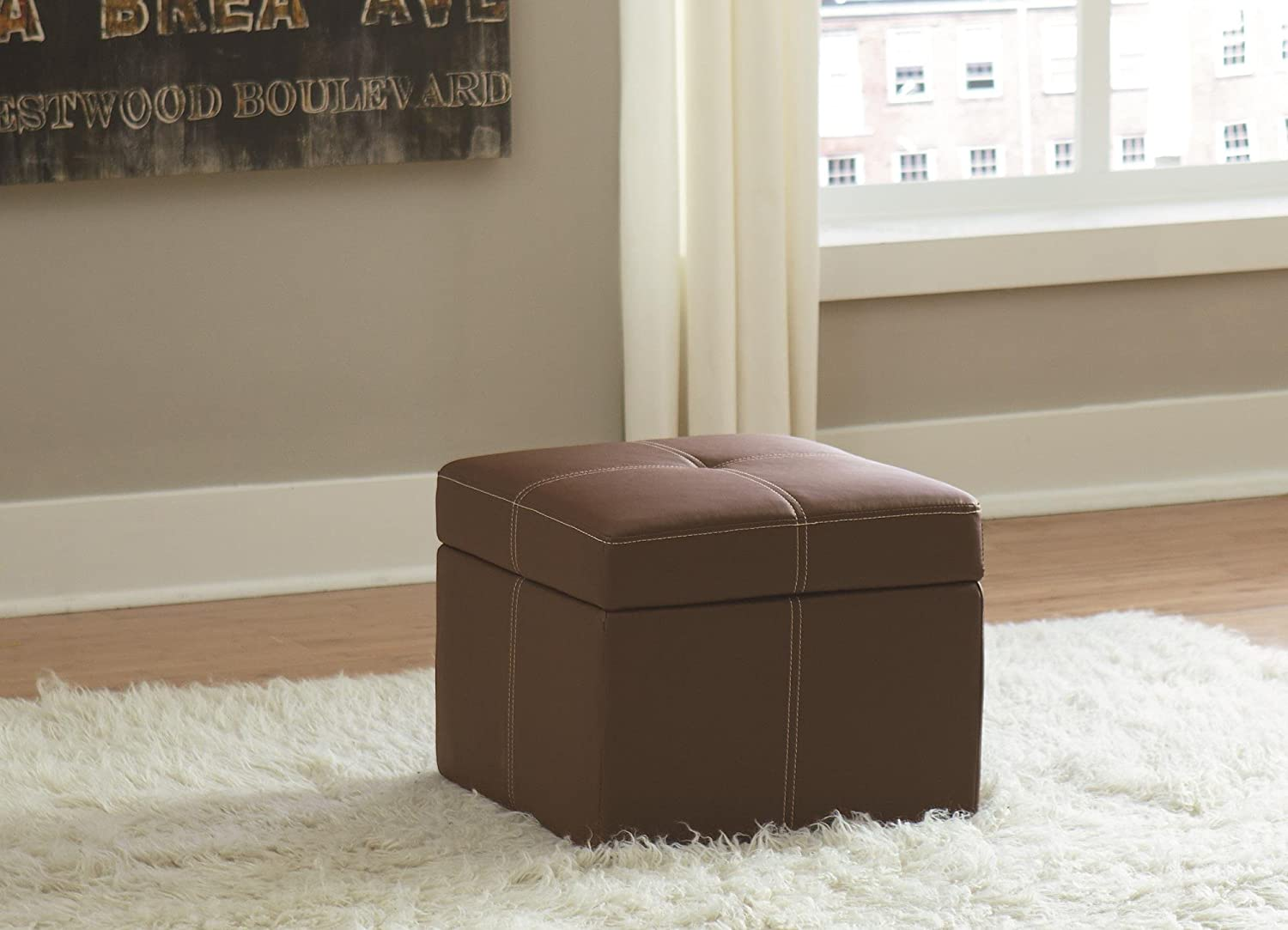 Superbe Amazon.com: DHP Delaney Small Square Storage Orroman   Brown: Kitchen U0026  Dining