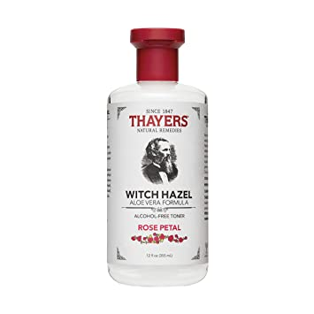 Thayers Alcohol-Free Rose Petal Witch Hazel with Aloe Vera, 12 Fluid Ounce 2 Pack Michigan Wolverines 2 Pack Lip Balm - Navy