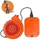 ChristmaxStore Mini Blower Fan for Inflatable Costume Inflatable Fans for Dinosaur Halloween Costume Orange