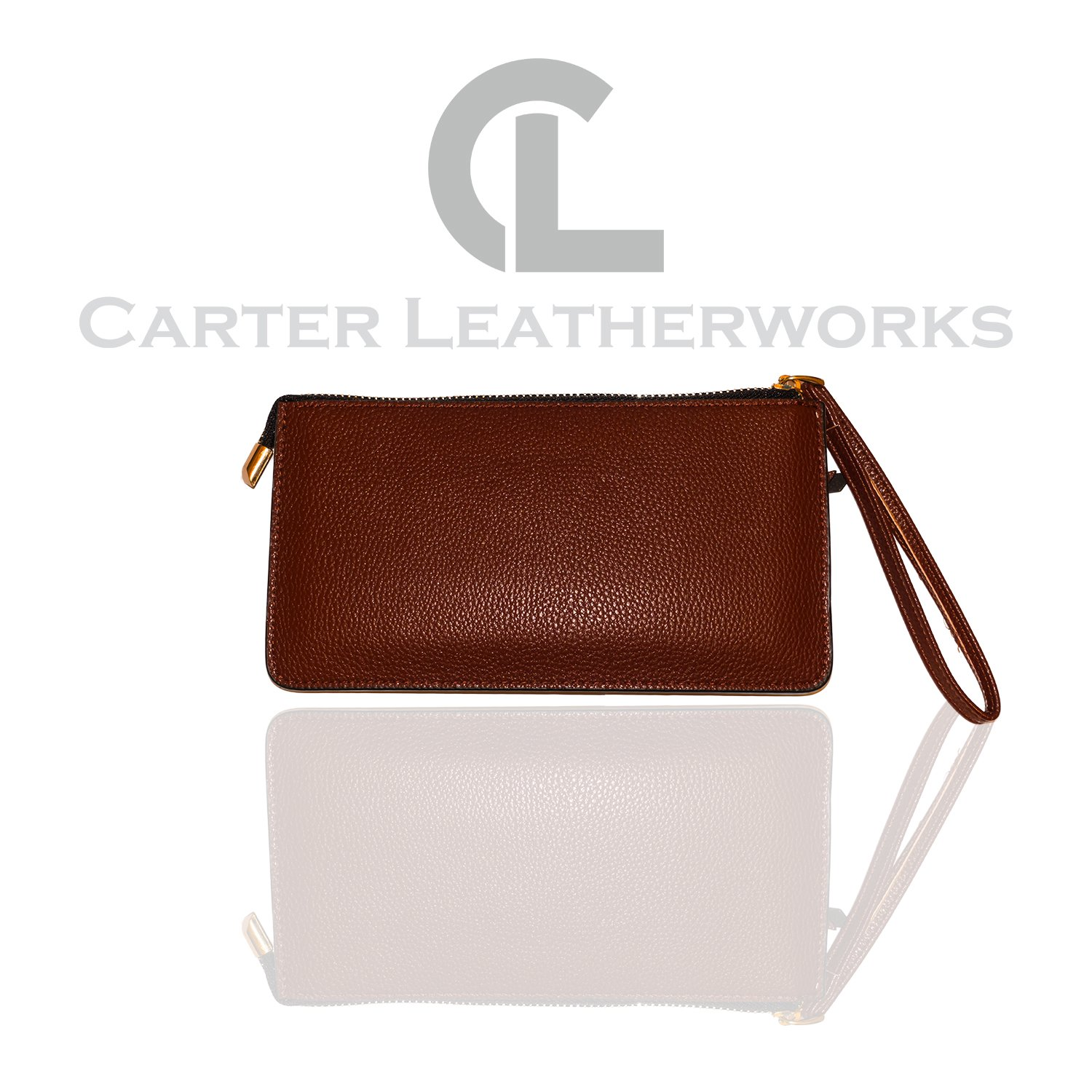 Carter Leatherworks Rodeo Womens PU Vegan Leather Wristlet Wallet Clutch Purse Fits Any Smartphone (Coffee) by Carter Leatherworks (Image #2)