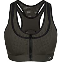 Yvette High Impact Sports Bras for Women Front Closure Sports Bra Workout Bra with Ventilation Racerback for Plus Size