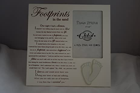Amazon.com - Luxury Footprints In The Sand Photo Frame Picture Frame ...