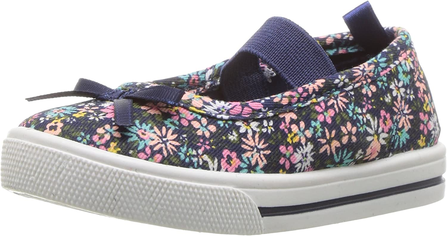 Carters Kids Girls Briana Floral Print Casual Maryjane Mary Jane Flat