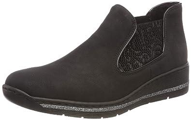 rieker damen 589z2 chelsea boots schwarz 00 41 eu