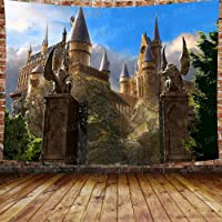 DBLLF Magical Forest Magic Castle Wall Hanging Harry Alley Potter Movies Backdrop Photography Tapestry for Living Room…