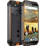 Ulefone Armor 3, IP68 Smartphone Libre Resistente 4G Outdoor, Batería Grande 10300mAh, IP68&IP69, 5.7'' Pantalla Grande 18:9, 4GB+64GB, Android 8.1, Doble SIM, OctaCore, Carga Rápida, NFC (Orange)