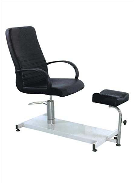 Sillón Pedicura con Reposapiés (Negro): Amazon.es: Salud y ...