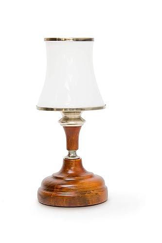 cm Relaxdays E14 Vintagecable Lampara maderamodelo 163 de de mesabase largosocket 8n0mNwv