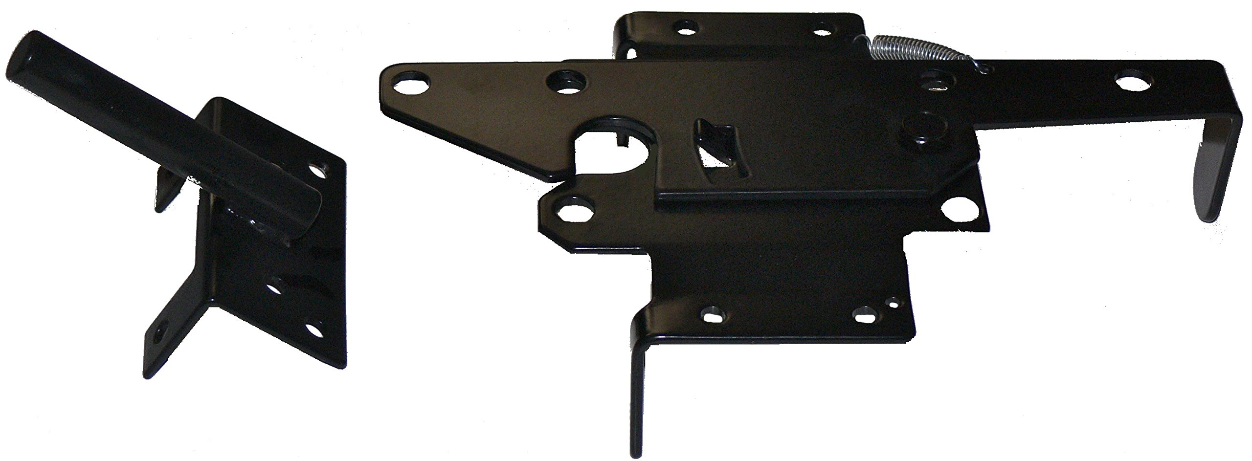 Vinyl Fence Gate Double Gate Hardware Kit Black (for Vinyl, PVC etc Fencing) - Double Fence Gate Kit has 4 Hinges, 1 Latch, and 1 Drop Rod