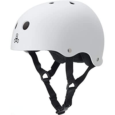Triple Eight Sweatsaver Liner Skateboarding Helmet, White Rubber, Small : Skate And Skateboarding Helmets : Sports & Outdoors