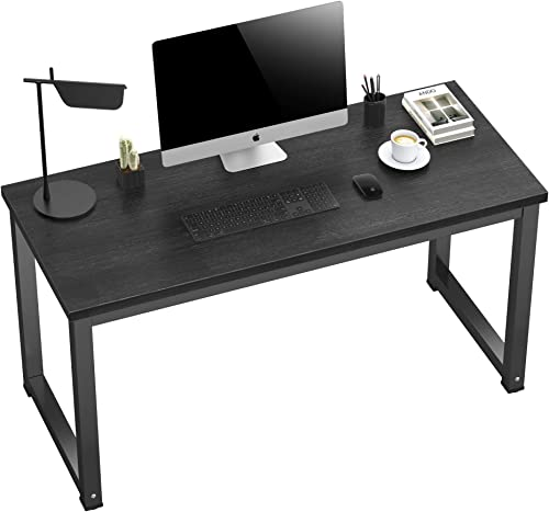 MANYHY Computer Desk 55 inch Home Office Writing Desk Modern Simple Style Work Study Table Laptop Notebook Sturdy Gaming Workstation