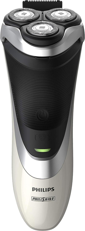 Philips S3551/12 - Afeitadora (Máquina de afeitar de rotación, Negro, Plata, Blanco, AC/Batería, Ión de litio, 60 min, 1 h)