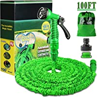 Running bulls Expanding Garden Water Hose Pipe with 7 Function Spray Gun Expandable Flexible Magic Hose Anti-leakage Lightweight Easy Storage