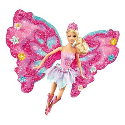Barbie Flower 'N Flutter Fairy Barbie Doll: Toys & Games