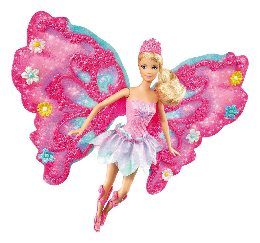 amazon com barbie flower u0027n flutter fairy barbie doll toys u0026 games