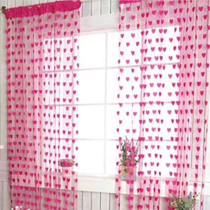 osierr6 Heart String Curtain Window Door Balcony Home Decoration Decorative Curtain for Living Room Bedroom,Wedding Birthday Photo Booth Backdrop Party Tassel Screen Supplies