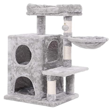 Amazon.com: BEWISHOME Árbol de gato condo con Sisal ...
