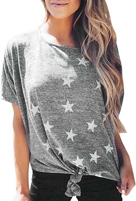 Resplend_Tops Camiseta para Mujer, diseño de Estrella ...