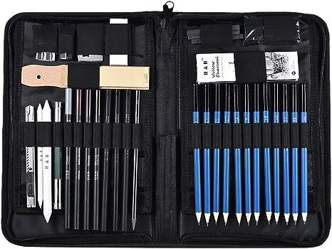 40pcs Sketching and Drawing Pencils Set Graphite Charcoal Sketch Drawing Set