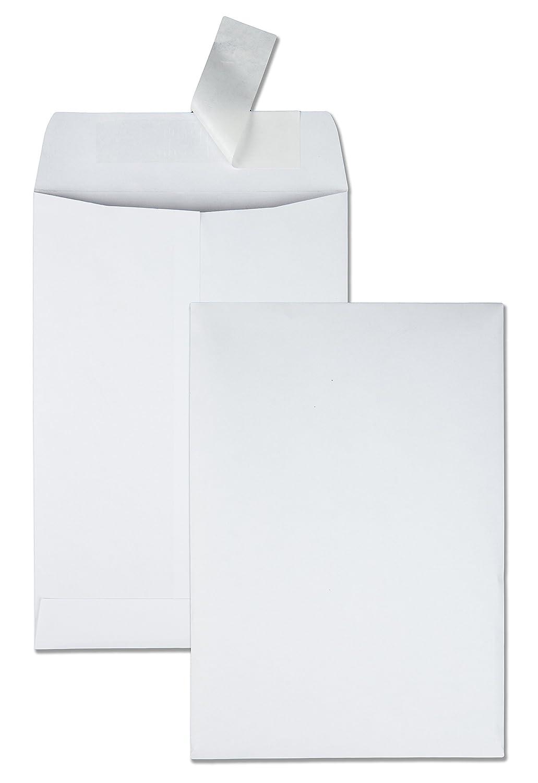 Quality Park Redi-Strip Catalog Envelope, 6.5 X 9.5-Inch, Box of 100, White (44334)