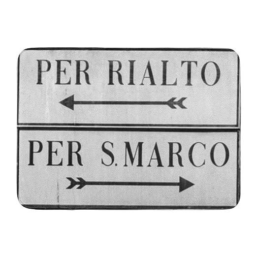 LiminiAOS Alfombrilla de baño Marcas Venecia Italia Cartel ...