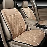 steman--net 超高品質ダイヤモンドカシミア暖房クッション 水洗い可の自動車座席シートヒーター 32W DC12V シガーソケット 二段階調節可能 30-60℃加熱 滑り止め工芸 愛車に高級感を与えます