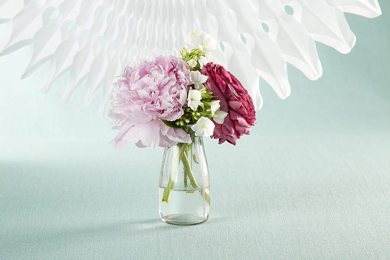 "4/"" x 2/"" Vintage Milk Bottle-Shaped Corked Glass Bottles Centerpiece Bud Vase Kate Aspen Baby Shower Party Favor Set of 12"