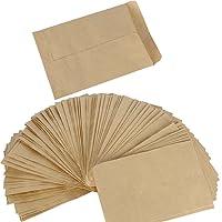 100pcs Pochette Sac Sachet en Kraft Papier Vintage Mini Enveloppe pour Semences ou Bonbons(10 x 6cm et 13 x 9cm)