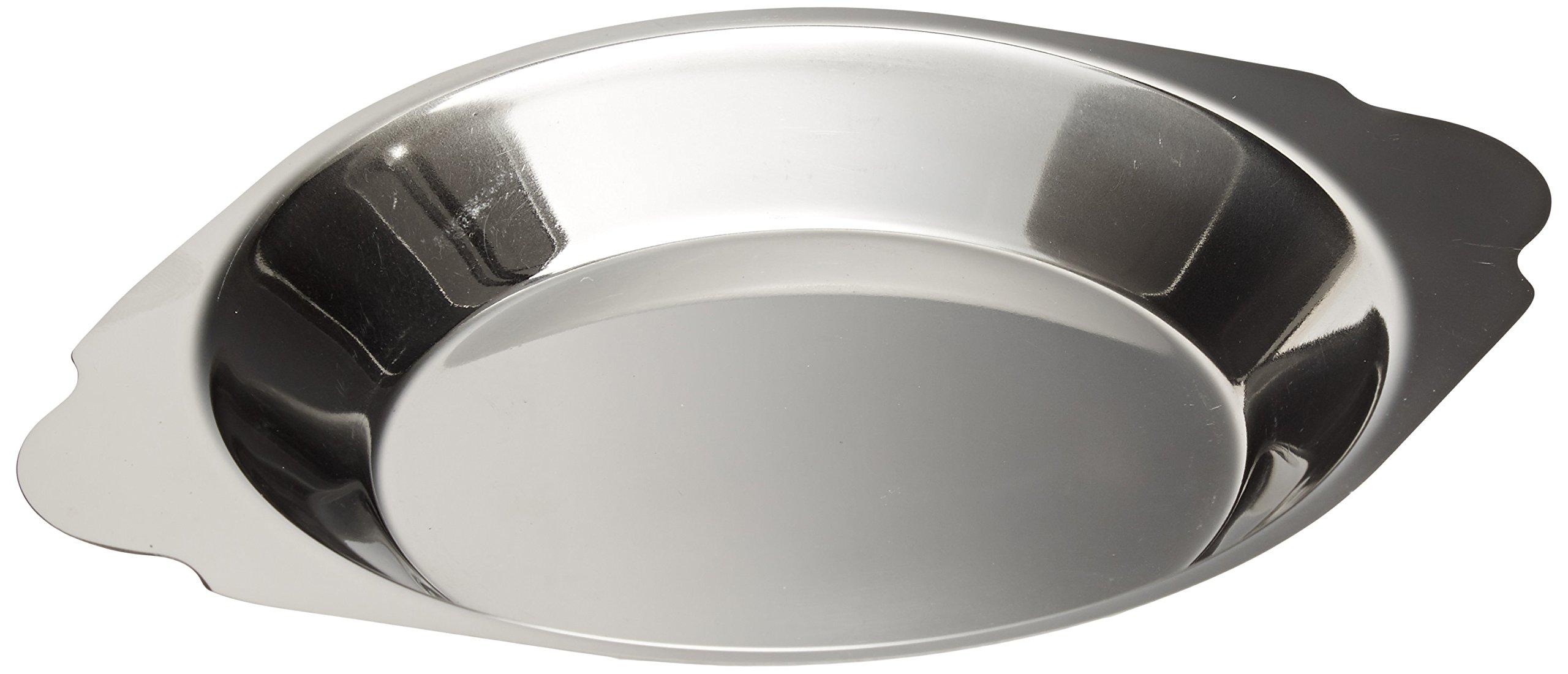 Royal Industries Round Au Gratin, Stainless Steel, 10 oz, Silver