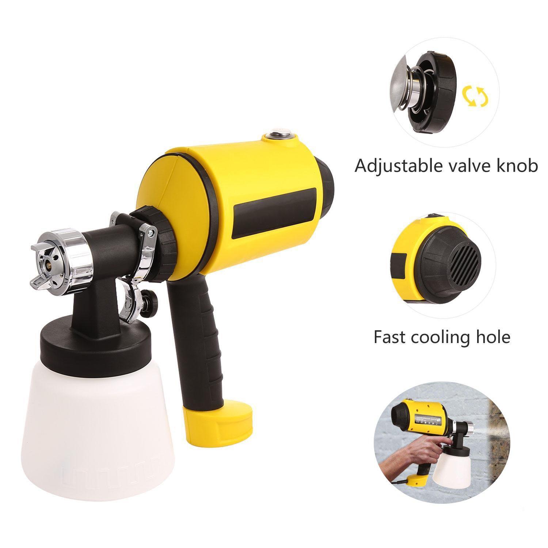 Electric Spray Gun 800ml/min Paint Sprayer with Three Spray Patterns, Adjustable Valve Knob, 6.5ft Power Line (US Stock)