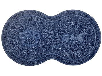 Alfombra para arena de gato en forma de 8, alfombra para gatos, felpudo, 46 x 26,4 cm: Amazon.es: Productos para mascotas