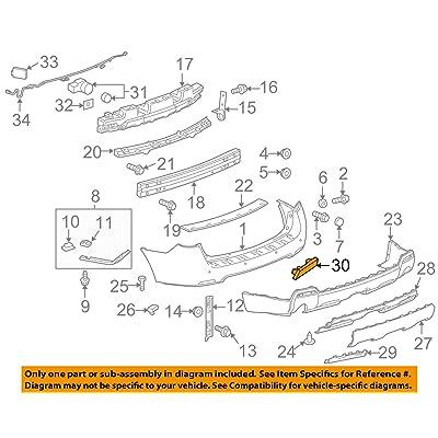 Genuine GM 22950587 Bumper Fascia Reflector, Left, Rear: Automotive [5Bkhe1405151]