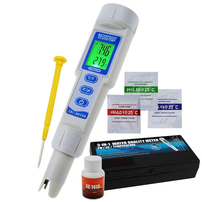 Acqua Qualit/à Tester pH EC Temperatura Penna Tipo Metro Acquari Hydroponics Laboratorio Strumento