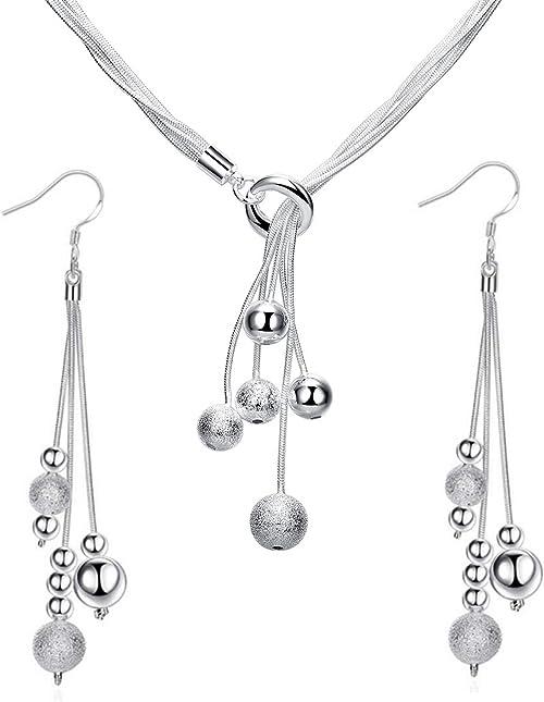 Three Chain Beaded Earrings Dangle Drop Earring Fancy Earrings Jewelry Sterling Silver Earrings Line Beads Earrings Long Chain Earrings