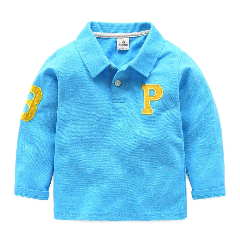 Mud Kingdom Boys Letter P Polo-shirt Long Sleeve