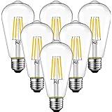 ANWIO Dimmable ST21 LED Edison Light Bulbs 5W(60 Watt Equivalent) 2700K Warm White Lightbulbs Vintage Light Bulb Set E26 Medi