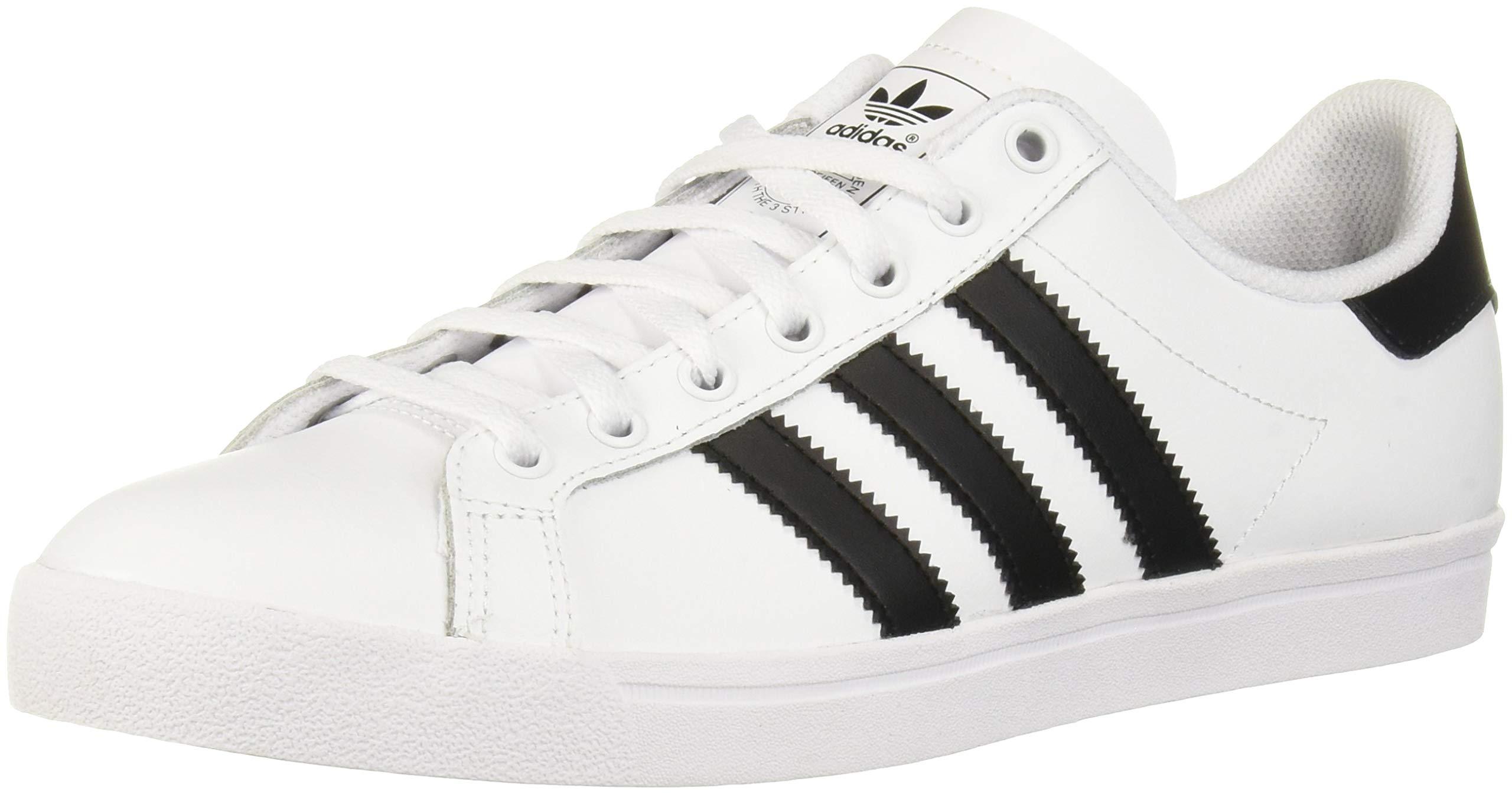 adidas Originals Unisex Coast Star Sneaker, Black, White, 7 Medium US Big Kid