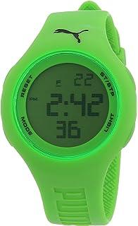 Puma Loop Neon Green A.PU910801003 - Reloj digital de cuarzo para mujer, correa