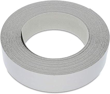 22mm bande de chant en melamine gris ruban de placage preencolle de haute qualite rouleau de 7 5 m a repasser pour une application facile